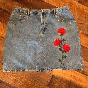 Size 26W Adriana Sport Jean Skirt